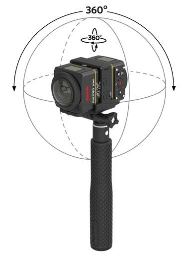 SP360 4K Dual Pro Pack Aksiyon Kamera-Kodak